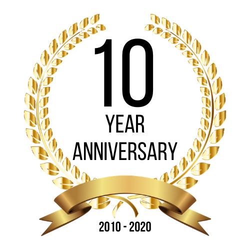 10 year anniversary - 2010-2020